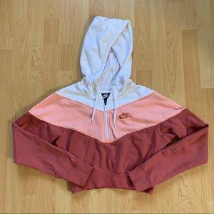 Nike Pink & White 1/2 Zip